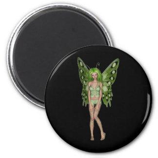 Señora verde Fairy 4 - arte de la fantasía 3D - Iman Para Frigorífico