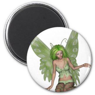 Señora verde Fairy 7 - arte de la fantasía 3D - Imán Para Frigorífico