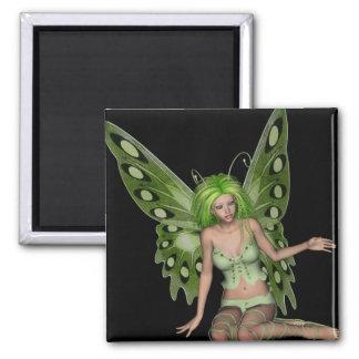 Señora verde Fairy 7 - arte de la fantasía 3D - Iman De Frigorífico