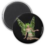 Señora verde Fairy 7 - arte de la fantasía 3D - Imanes Para Frigoríficos