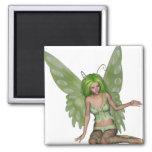 Señora verde Fairy 7 - arte de la fantasía 3D - Iman