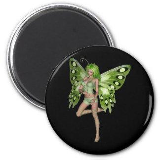 Señora verde Fairy 8 - arte de la fantasía 3D - Iman