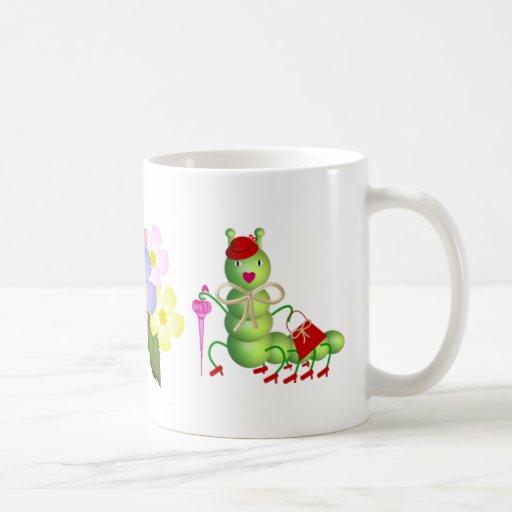 Señora verde Worm Tazas