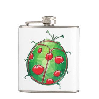 Señora verde y roja Bug del polígono del mosaico