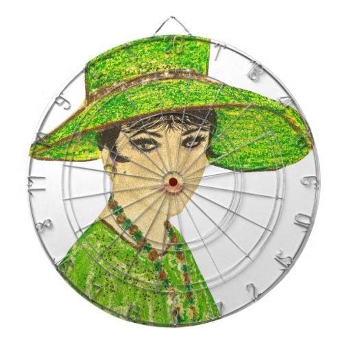 Señora vibrante en verde