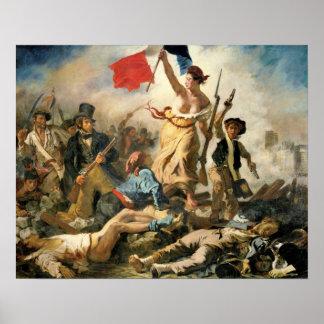 Señora Victory de Delacroix que lleva la manera a Póster