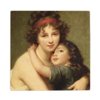Señora Vigee-Lebrun y su hija 2 Posavasos De Arce