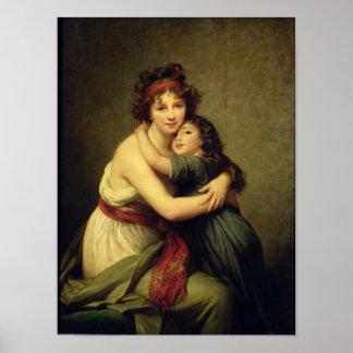 Señora Vigee-Lebrun y su hija Póster