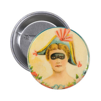Señora Vintage Art de la bola enmascarada de la ma Pin
