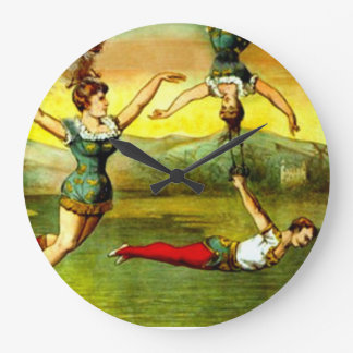 Señora Vintage Circus Poster Art De interior del t Relojes