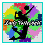 Señora Volleyball Graphic Poster