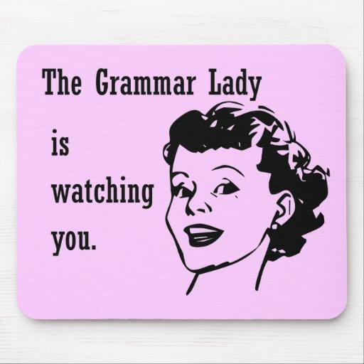 Señora Watching Mousepad de la gramática