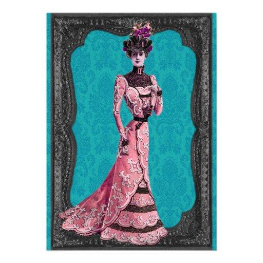 Señora Wedding Invitations del Victorian Invitacion Personal