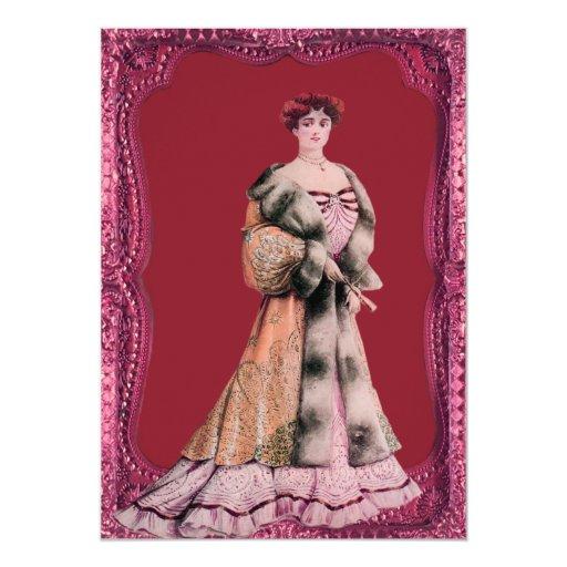 """Señora Wedding Invitations del Victorian Invitación 5"""" X 7"""""""