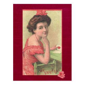 Señora Will You del Victorian sea mi postal de la