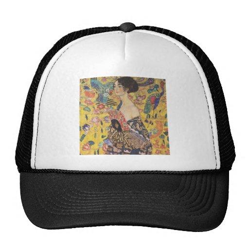 Señora With Fan Hat de Gustavo Klimt Gorras