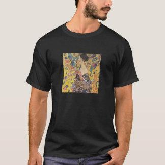 Señora With Fan T-shirt de Gustavo Klimt Playera