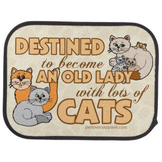 Señora With Lots de gatos Alfombrilla De Auto
