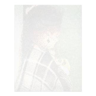 Señora With Veil By Pierre-Auguste Renoir Plantilla De Membrete