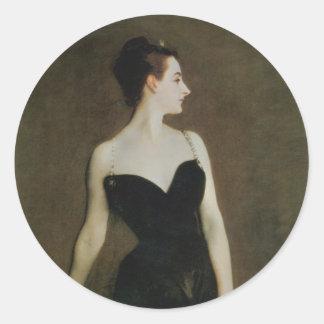 Señora X de John Singer Sargent Pegatina Redonda