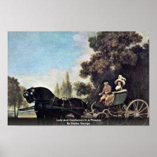 Señora y caballero en un faetón de Stubbs George Posters