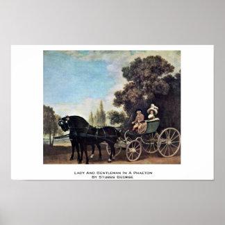 Señora y caballero en un faetón de Stubbs George Poster