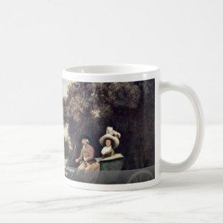 Señora y caballero en un faetón de Stubbs George Tazas De Café
