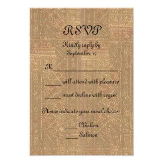 Señora y caballero RSVP que se casa medieval del r