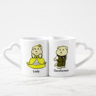 Señora y caballero taza para enamorados