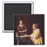 Señora y criada de Juan Vermeer Imán De Frigorifico