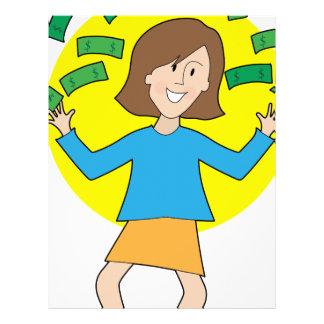 Señora y dinero felices plantillas de membrete