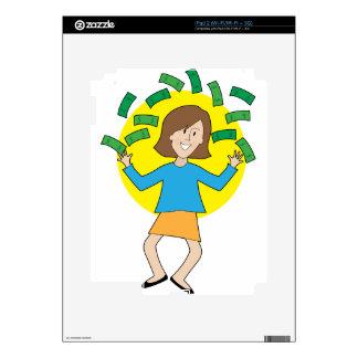 Señora y dinero felices skins para iPad 2