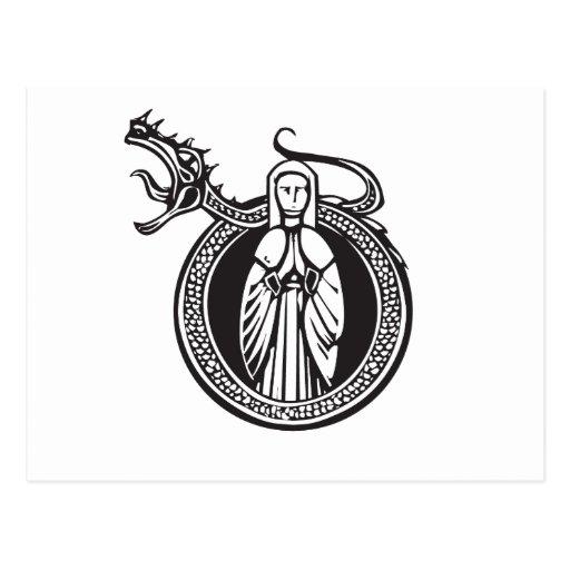 Señora y dragón del rugido postal