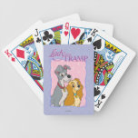 Señora y el vagabundo barajas de cartas