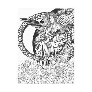 Señora y la fantasía de las ilustraciones del arte lona estirada galerias