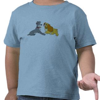 Señora y la reunión Disney del vagabundo Camiseta