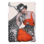 Señora y leopardo