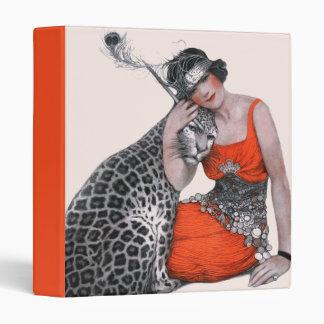"""Señora y leopardo carpeta 1"""""""