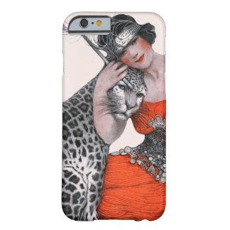 Señora y leopardo funda de iPhone 6 barely there