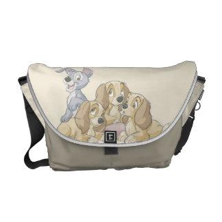 Señora y los perritos del vagabundo bolsas messenger