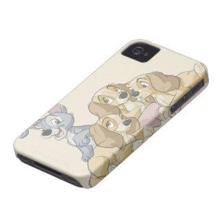Señora y los perritos del vagabundo Case-Mate iPhone 4 cárcasas