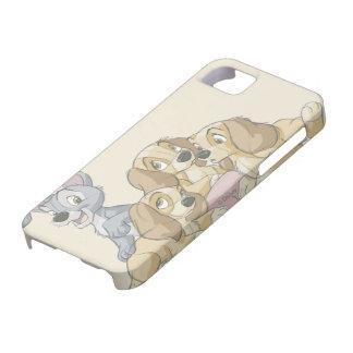Señora y los perritos del vagabundo iPhone 5 carcasas
