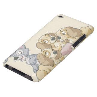 Señora y los perritos del vagabundo iPod Case-Mate protectores