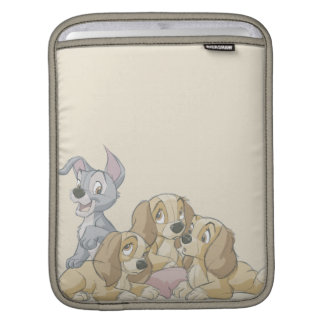 Señora y los perritos del vagabundo mangas de iPad