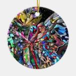 ¡Señora y mariposa! Ornamento Para Reyes Magos