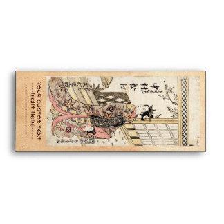Señora y niño japoneses frescos del ukiyo-e del vi