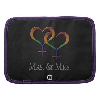 Señora y señora Lesbian Pride Planificador