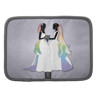 Señora y señora Rainbow Brides Organizadores