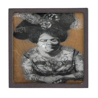 señora y tatoo de Berlín de la pintada Niza Caja De Regalo De Calidad