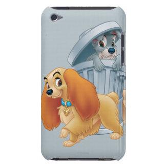 Señora y vagabundo en la basura Case-Mate iPod touch cárcasas